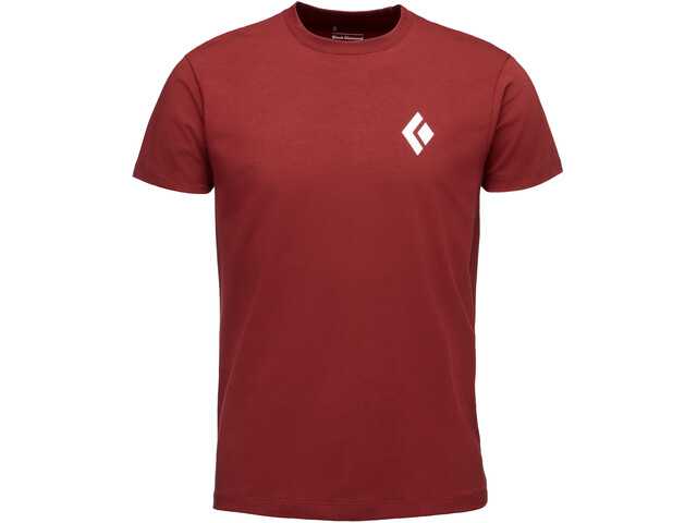Black Diamond Equipment For Alpinists S/S Tee Herr red oxide